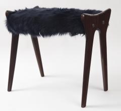 Ico Parisi Pair of Italian Mid Century stools in mahogany Ico Parisi - 1399133