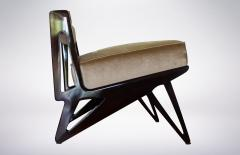 Ico Parisi Pair of Modernist Armchairs in Pale Green Velvet Attributed to Ico Parisi 1950 - 940528