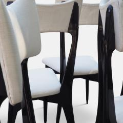 Ico Parisi Set of Six Ebonized Dining Chairs Attributed to Ico Parisi - 1086476