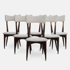 Ico Parisi Set of Six Ebonized Dining Chairs Attributed to Ico Parisi - 1086478