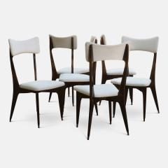 Ico Parisi Set of Six Ebonized Dining Chairs Attributed to Ico Parisi - 1086479