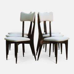 Ico Parisi Set of Six Ebonized Dining Chairs Attributed to Ico Parisi - 1086480