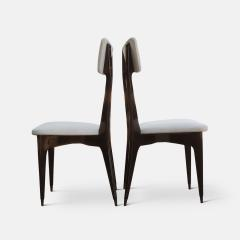 Ico Parisi Set of Six Ebonized Dining Chairs Attributed to Ico Parisi - 1086482