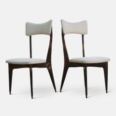 Ico Parisi Set of Six Ebonized Dining Chairs Attributed to Ico Parisi - 1086483