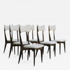 Ico Parisi Set of Six Ebonized Dining Chairs Attributed to Ico Parisi - 1088090