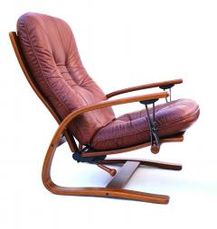 Igmar Relling Mid Century Westnofa Leather Reclining Lounge Chair and Ottoman Ingmar Relling - 1763799