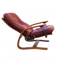 Igmar Relling Mid Century Westnofa Leather Reclining Lounge Chair and Ottoman Ingmar Relling - 1763802