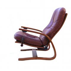 Igmar Relling Mid Century Westnofa Leather Reclining Lounge Chair and Ottoman Ingmar Relling - 1763804