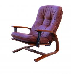 Igmar Relling Mid Century Westnofa Leather Reclining Lounge Chair and Ottoman Ingmar Relling - 1763813