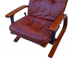 Igmar Relling Mid Century Westnofa Leather Reclining Lounge Chair and Ottoman Ingmar Relling - 1763814
