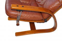 Igmar Relling Mid Century Westnofa Leather Reclining Lounge Chair and Ottoman Ingmar Relling - 1763815