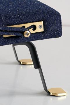 Ignazio Gardella Pair of Ignazio Gardella Digamma Armchairs in Navy Raf Simons for Kvadrat Fabric - 994272