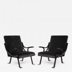 Ignazio Gardella Rare pair of original Digamma chairs - 1159894