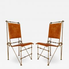 Ilana Goor Set of 12 American Post War Leather Chairs - 1444896