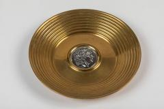 Ilias Lalaounis Pair of Brass Trinket Dishes with Silver Greek Coins by Illias Lalaounis - 1405987