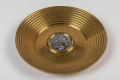 Ilias Lalaounis Pair of Brass Trinket Dishes with Silver Greek Coins by Illias Lalaounis - 1405989