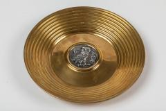Ilias Lalaounis Pair of Brass Trinket Dishes with Silver Greek Coins by Illias Lalaounis - 1405990