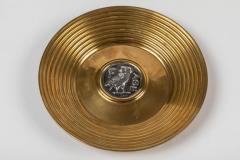 Ilias Lalaounis Pair of Brass Trinket Dishes with Silver Greek Coins by Illias Lalaounis - 1405992