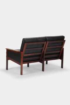 Illum Wikkels Capella 2er sofa leather rosewood Illum Wieklsoe - 1575641