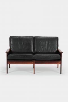 Illum Wikkels Capella 2er sofa leather rosewood Illum Wieklsoe - 1575642