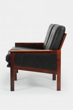 Illum Wikkels Capella 2er sofa leather rosewood Illum Wieklsoe - 1575643