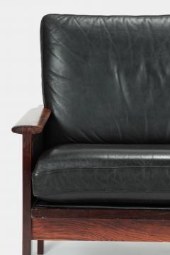 Illum Wikkels Capella 2er sofa leather rosewood Illum Wieklsoe - 1575647