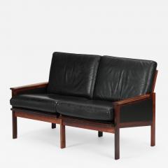 Illum Wikkels Capella 2er sofa leather rosewood Illum Wieklsoe - 1577061