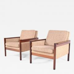 Illum Wikkels Midcentury Pair of Illum Wikkelso Capella Chairs for Niels Eilersen - 1670905