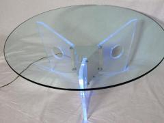 Illuminated Lucite Coffee Table circa 1970 - 572646