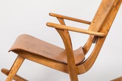 Ilmari Tapiovaara Rare Pair of 1940s Rocking Chairs by Ilmari Tapiovaara - 958078