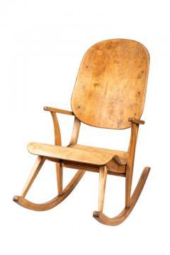 Ilmari Tapiovaara Rare Pair of 1940s Rocking Chairs by Ilmari Tapiovaara - 958081