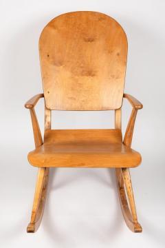 Ilmari Tapiovaara Rare Pair of 1940s Rocking Chairs by Ilmari Tapiovaara - 958082