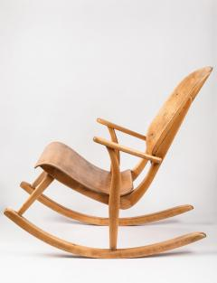 Ilmari Tapiovaara Rare Pair of 1940s Rocking Chairs by Ilmari Tapiovaara - 958083