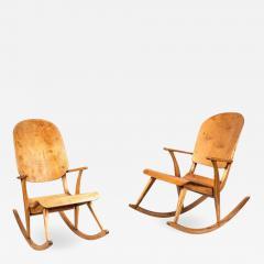 Ilmari Tapiovaara Rare Pair of 1940s Rocking Chairs by Ilmari Tapiovaara - 958964