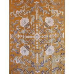 Imperial Cut Silk Velvet and Metal Thread Kang Carpet - 756662