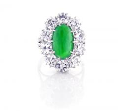 Imperial Jadeite Jade and Diamond Ring - 1107273