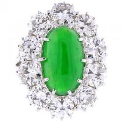 Imperial Jadeite Jade and Diamond Ring - 1107274