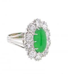Imperial Jadeite Jade and Diamond Ring - 1107275