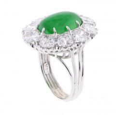 Imperial Jadeite Jade and Diamond Ring - 1107278