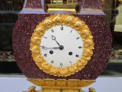 Important Charles X Imperial Porphyry Lyre Clock - 295766