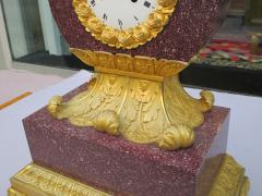 Important Charles X Imperial Porphyry Lyre Clock - 295769