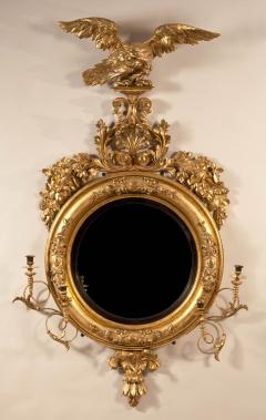 Important Giltwood Girandole Mirror Surmounted with an Eagle and Anthemeon - 56959