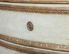 Important Italian Neoclassic Painted and Parcel Gilt Commode - 396574