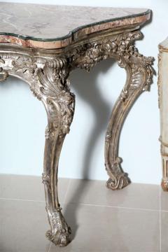 Important Italian Rococo Silver Gilt Console - 396446