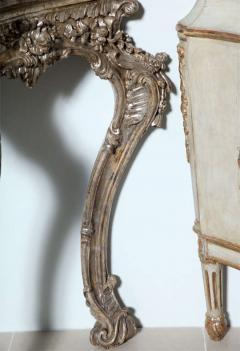 Important Italian Rococo Silver Gilt Console - 396447