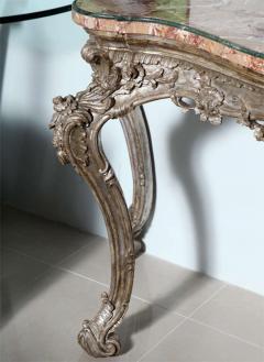 Important Italian Rococo Silver Gilt Console - 396449