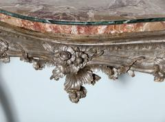 Important Italian Rococo Silver Gilt Console - 396450