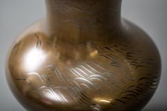 Important Japanese Antique Bronze Flower Vase Hana Ire  - 1964271