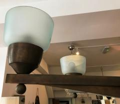 Important Large Ceiling Light in Bronze and Murano Glass - 1405261