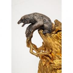 Important Ormolu and Silvered Bronze Figural Wine Cooler Possibly Russian 1860 - 1110878